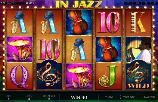 Комбінація з диким знаком в автоматі In Jazz
