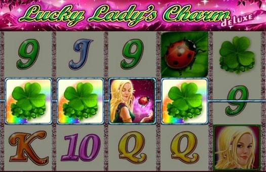 Виграшна комбінація символів автомата Lucky Lady's Charm Deluxe