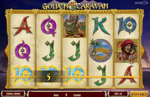 Виграшна комбінація символів в Golden Caravan