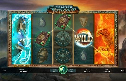 Дикі символи в ігровому апараті Forbidden Throne