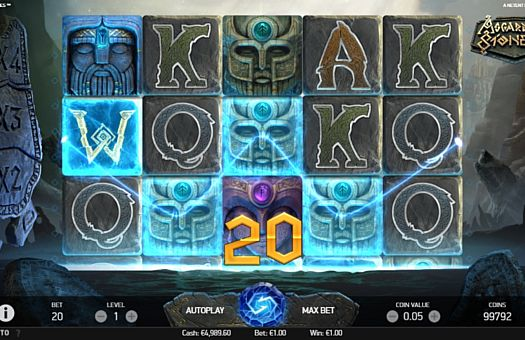 Призова комбінація на лінії в ігровому автоматі Asgardian Stones