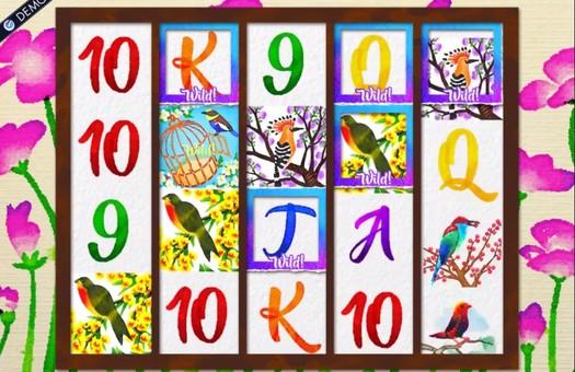Комбінація з дикими символами в ігровому автоматі Birds and Blooms