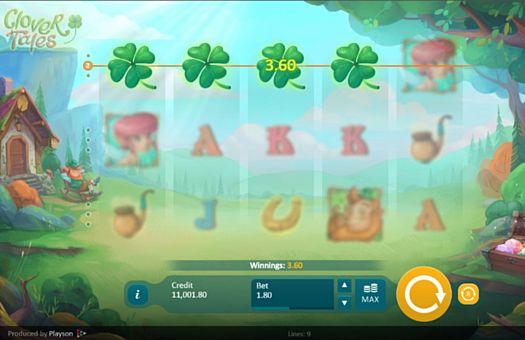 Призова комбінація на лінії в ігровому автоматі Clover Tales