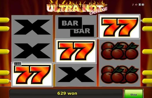 Максимальна виграшна комбінація в ігровому автоматі Ultra Hot Deluxe