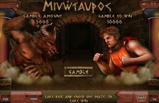 Гра на подвоєння онлайн апарату Minotaurus