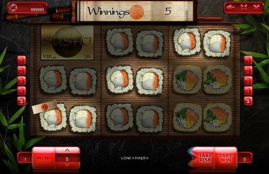 Випадання виграшної комбінації в онлайн автоматі Sushi