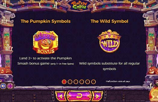 Символи в Bonus і Wild в онлайн слоті Pumpkin Smash