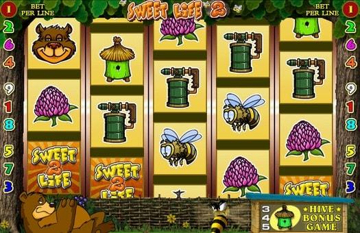 Випадання символів в онлайн автоматі Sweet Life 2