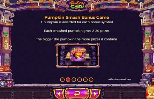 Правила бонусної гри в Pumpkin Smash онлайн