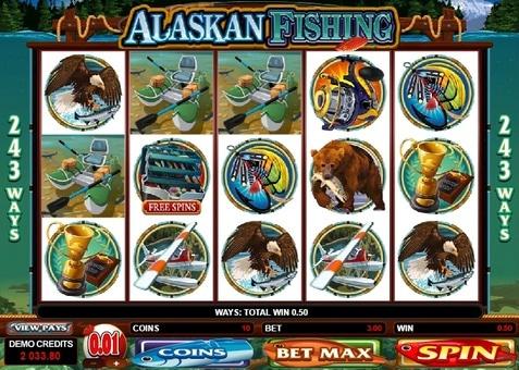 Виграшна комбінація в слоті Alaskan Fishing